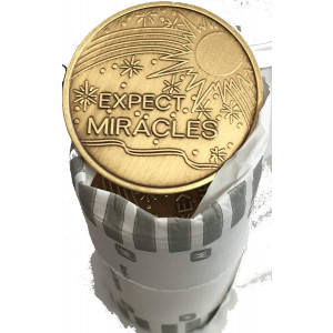 Bulk Lot of 25 Expect Miracles Bronze Medallions Chip Wholesale Set