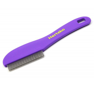 Hertzko Flea Comb with Double Row of Teeth Double Row of Closely Spaced Metal Pins Removes Fleas, Flea Eggs, and Debris from Your Pet's Coat - Suitable for Dogs and Cats