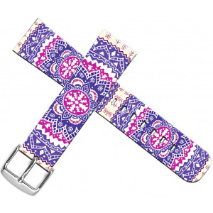 Strap Compatible for Apple Watch Series 4/3/2/1 38mm/40mm - ENDIY Designer Leather Fashionable Band Replacement for Iwatch Purple Girly Flower Floral Pattern Fantastic