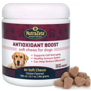 Natural Anti Inflammatory Joint Supplement for Dogs - Premium Antioxidants for Dogs to Help Ease Hip and Joint discomfort + Immune System Boost and Cell DNA Health Protection - 90 Soft Chews - Made USA