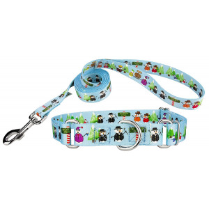 Country Brook Design   Martingale Collar and Leash - Christmas Collection