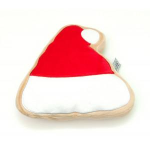 Midlee Christmas Sugar Cookie Plush Dog Toy (Santa Hat, Small)