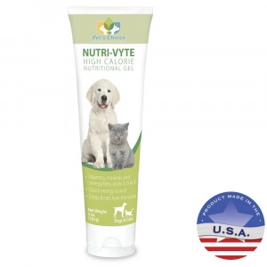 Pet's Choice Pharmaceuticals Nutri-Vyte High Calorie Nutrition Gel for Dogs and Cats, 5 oz,