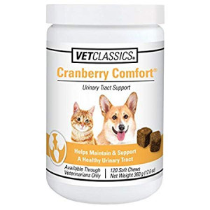 Cranberry Comfort Urinary Tract Support for Dogs and Cats (120 Soft Chews)