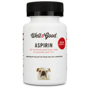 Well and Good Buffered Dog Aspirin, 75 tablets, For Large Dogs