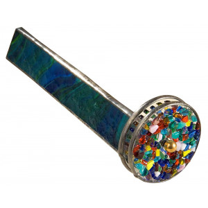 J Devlin Kal 106 Green Stained Glass Kaleidoscope with Two Wheels Gift for Dad Father's Day