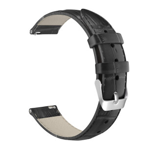 MoKo 22mm Quick Release Universal Watch Band, Leather Crocodile Pattern Strap for 22mm Sport Strap, Black