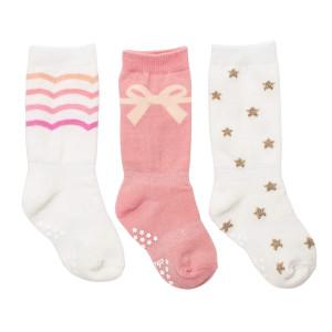 Cheski Baby Girls' Knee Socks Stay Put on Baby's Kicking Legs ~ Pretty 3 Pairs