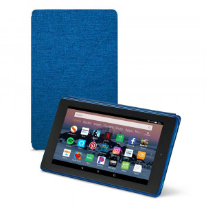 Amazon Fire HD 8 Tablet Case (Compatible with 7th and 8th Generation Tablets, 2017 and 2018 Releases), Marine Blue