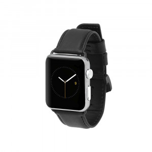 Case-Mate - Apple Watch Band - 42mm - SIGNATURE LEATHER - Series 3 Apple Watch Band - Black