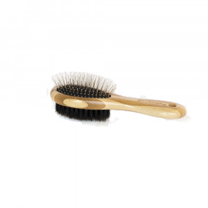 Pet Champion PTBBCOMBO 2 Sided Combo All Natural Bristle Bamboo Pet Brush, Large, Brown