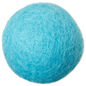 MEOWFIA Wool Ball Toys - 6-Pack of Safe for Cats and Small Dogs Balls - 1.5 Inch Felted Wool Cat Toy and Dog Toy - Perfect with Cat Cave - Silent - Mini Tennis Balls - 6-Pack