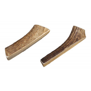 Small, Split, Twin Pack - Grade  A Premium Elk Antler Chews for 10-20 lb Dogs  Naturally shed from Wild elk  No Mess, No Odor  Made in The USA