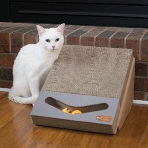 KandH Pet Products Scratch, Ramp and Track Cardboard Cat Scrather Toy 15 x 12 x 10