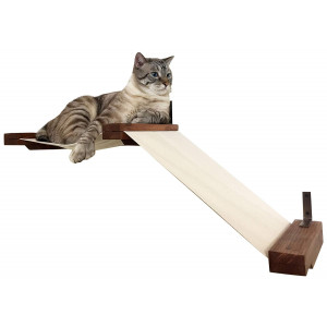 CatastrophiCreations Fabric Raceway Hammock Lounger Wall-Mounted Cat Shelving
