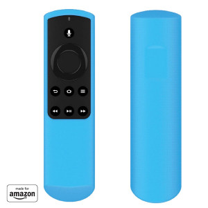 """Made for Amazon"" Mission Cables Case for Alexa Voice Remote for Fire TV Stick (1st Gen) - Bahama Blue"