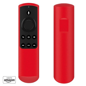 """""""Made for Amazon"""" Mission Cables Case for Alexa Voice Remote for Fire TV Stick (1st Gen) - Candy Red"""