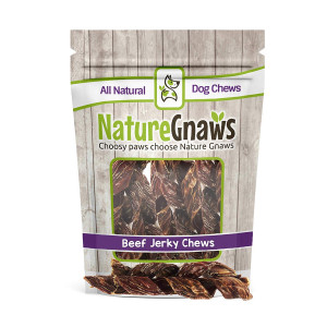 """Nature Gnaws Beef Jerky Springs 7-8"""" (12 Pack) - 100% All-Natural Grass-Fed Free-Range Premium Beef Dog Chews"""
