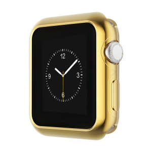 hoco. Case for Apple Watch iWatch TPU Plated Plating Protective Bumper Cover Ultra-Thin Scratch-resistant Flexible Slim Lightweight Cover for Series (38MM-Gold)