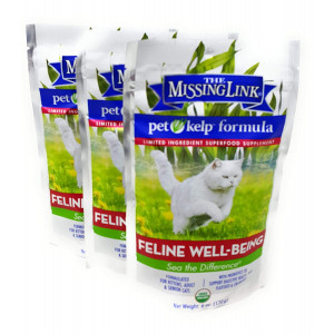 The Missing Link Pet Kelp Formula - Feline Well-Being - Limited Ingredient Superfood Supplement For Cats (3 Pack)