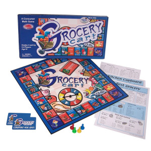 Learning Advantage, Mental Math Board Game, A Consumer Board Game - Grocery Cart, Grade  4 and up