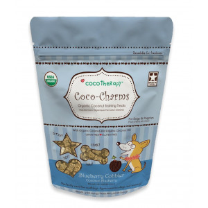 CocoTherapy Coco-Charms Training Treats  Blueberry Cobbler, (1 pouch), 5 oz.