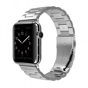 Stainless Steel Smart Watch Replacement Band Compatible for Apple iWatch Series 3/2/1 Nike+ Sport Edition Apple Watch Band - 42mm Silver