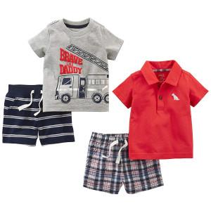Simple Joys by Carter's Baby Boys' 4-Piece Playwear Set