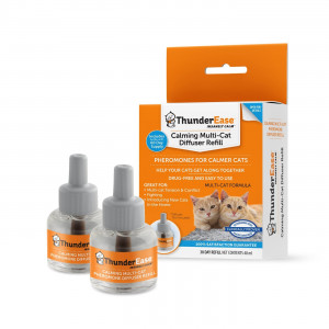 ThunderEase Multicat Calming Pheromone Diffuser Refill - Reduce Cat Conflict, Tension and Fighting
