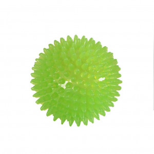 UEETEK Dog Toy Squeakers Ball Spikey Ball Squeaky Ball with High Bounce (Green, 6cm)