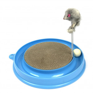 Irispets Scratcher Kitten, Cat and Cardboard Scratcher Cat Track Toy Catch The Mouse and Track Exercise Ball Toy, Fun Interactive Cat Track Toys for Multiple Cats, kitten to Play with bag Catnip