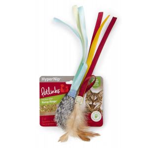 Petlinks 49711 Romp Rings with Ribbons Hyper Nip Catnip Toy (2 Pack)