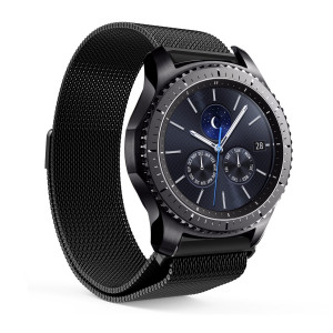 CHENYU Milanese Magnetic Loop Stainless Steel Band for Samsung Gear S3 Classic Smart Watch (black)