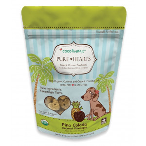 Cocotherapy Pure Hearts Coconut Cookies  Pina Colada (Pineapple Coconut), (1 Pouch), 5 Oz.