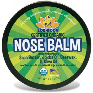 Organic Nose Balm for Dogs and Cats | All Natural Soothing and Healing for Dry Cracking Rough Pet Skin | Protect and Restore Cracked and Chapped Dog Noses