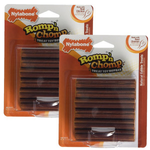 Nylabone Romp 'N Chomp Toy Treat Refill, 24 Count