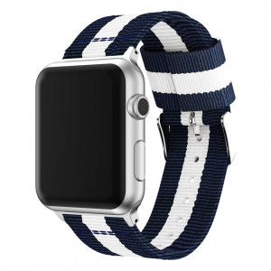 Huanlong Band Compatible with Apple Watch, Fine Woven Nylon Adjustable Replacement Band Sport Strap for Apple Watch