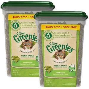 FELINE GREENIES Dental Cat Treats 11 oz 2 Pack