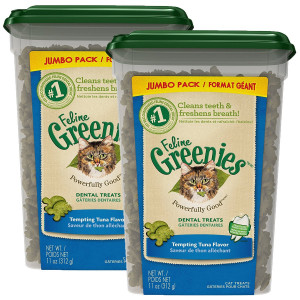 FELINE GREENIES Dental Cat Treats (Tuna, 22 oz.)