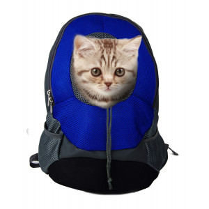 A Cup of Tea Pet Carrier Backpacks Adjustable Dogs Cats Breathable Oxford Travel Carriers for Walking, Hiking, Bike and Motorcycle