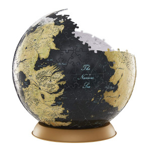 4D Cityscape Game of Thrones (GoT) 3D Westeros and Essos Globe Puzzle, 9-inch