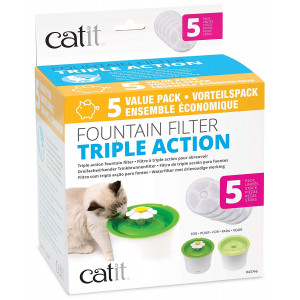 Catit Cat Fountain Replacement Filters - 43746 - Triple Action - One Size