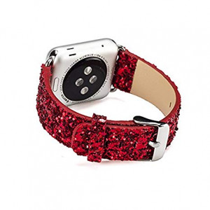 Huanxi compatible watch band 42mm replacement for apple iWatch Series 1and2and3 Edition(Red)