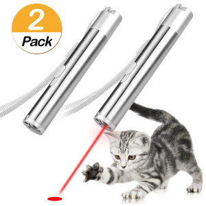 Tacobear 2PCS Cat Toys 3 in 1 USB Charging Catch Interactive LED Light Exercise Cat Training Tool