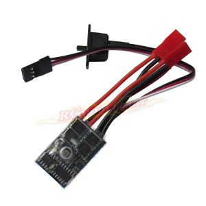 Powerday RC 10A ESC Brushed Speed Controller for 1/16 18 24 Car Boat Tank w/o Brake This ESC can work with 130/180/260/280/380 Brushed Motor(Without brake ESC 1pcs)