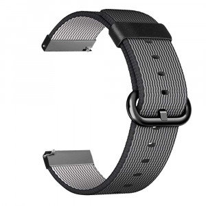 For Galaxy Watch 46mm and Gear S3 Watch Band, Fintie 22mm Soft Woven Nylon Lightweight Adjustable Replacement Strap Wrist Bands for Samsung Galaxy Watch 46mm / Gear S3 Classic/Frontier Smartwatch, Black
