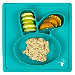 Silicone Baby Placemat, Suction Plate for Toddlers - Rabbit Placemat by Boulapin| Silicone placemat for kids|BPA Free, Dishwasher and Microwave Safe Toddler Placemat