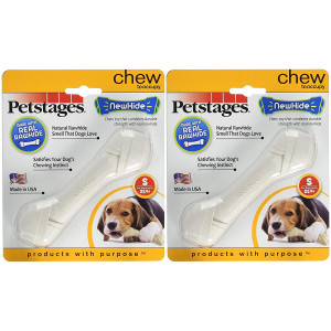 (2 Pack) Newhide Safe Replacement for Rawhide Dog Chew, Durable Safe Dog Toy by Petstages (Small)