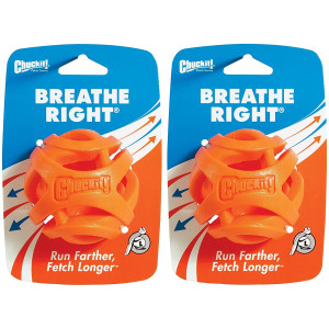 Chuckit! (2 Pack) Breathe Right Fetch Ball (Large)