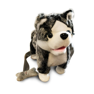 LilPals Live Action Plush Walking Pets - Electronic Leash Remote Control (RC) with Music  Available in Brown Horse, Dalmatian Dog, Pink Husky, Blue Husky Or Grey Husky